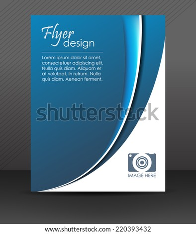 Professional business flyer template, brochure, cover design or corporate banner in blue and white color/design for your creative editing with place for your content - stock vector