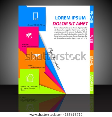Professional business flyer template or corporate banner/design for print, publishing or working presentation/vector illustration - stock vector