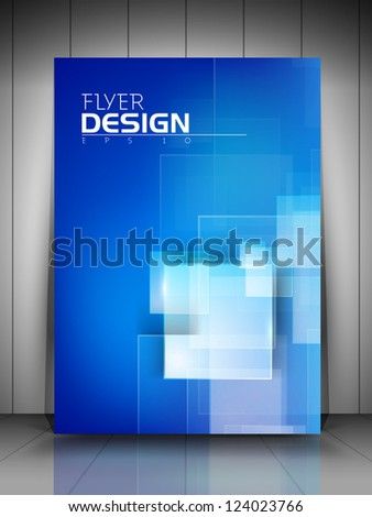 Professional business flyer template or corporate banner design  for publishing, print and presentation. EPS 10. - stock vector