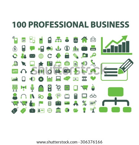professional business icons - stock vector