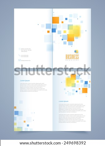 professional business 2 page brochure template stock vector