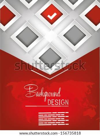 Professional Business Red Flyer Template Brochure Stock Vector