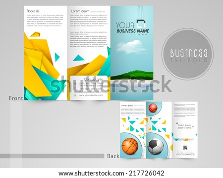 Tri Fold Business Brochure Photos RoyaltyFree Images – Three Fold Flyer Template
