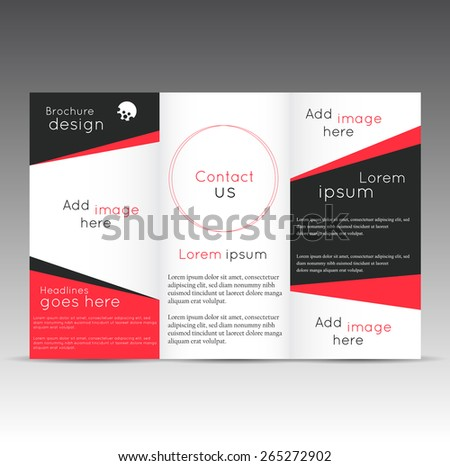 Professional Business Three Fold Flyer Template Stock Vector Hd