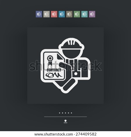 Professional contract - stock vector