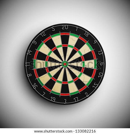Professional darts board. Eps 10 - stock vector