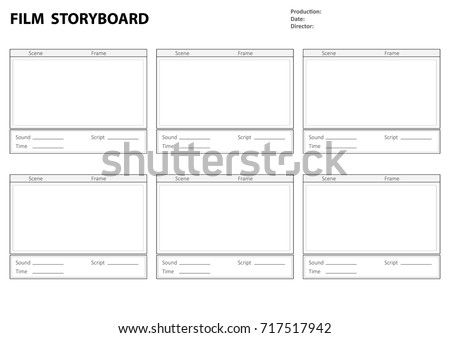 Professional Film Storyboard Storyboard Template Film Stock Photo