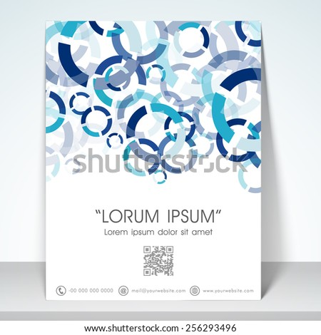Professional flyer, banner or template with blue aqua abstract design for your business. - stock vector