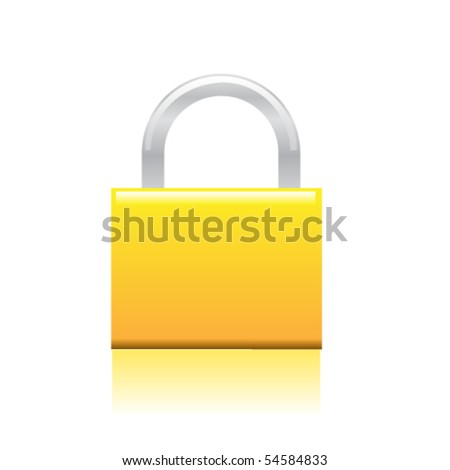 Professional icon of a lock