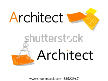 Professional symbol/design for architects - stock vector