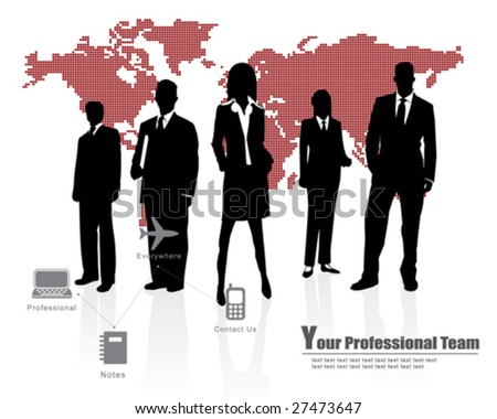 Professional Team -- Corporate Business Template Background - stock vector