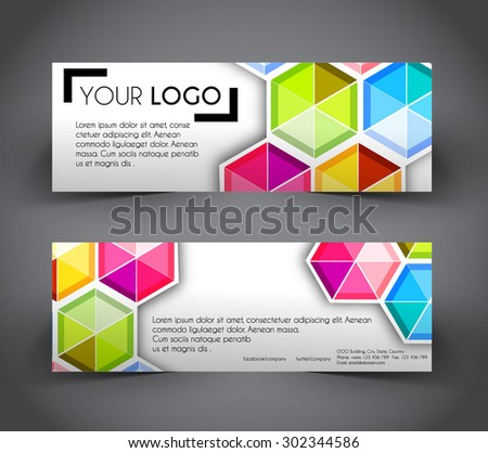 Professional Web Banner, Header Layout Template. - stock vector