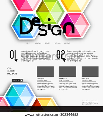 Professional Website design business template, editable Vector illustration. - stock vector