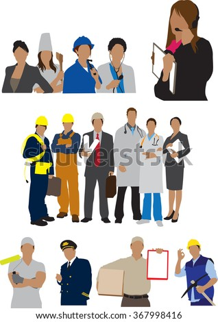 professions - stock vector