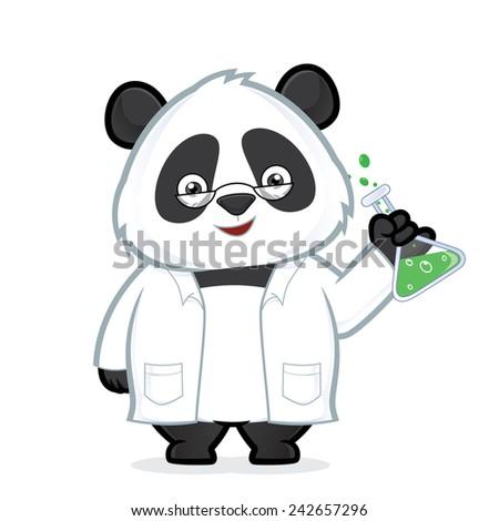 Professor panda - stock vector