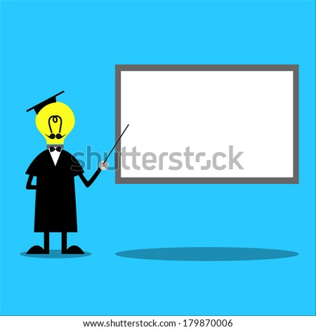 Professor & Presentation Board - stock vector