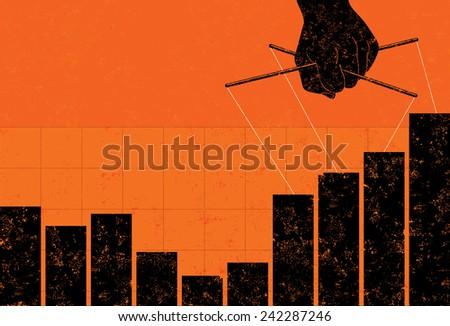 Profit Manipulation - stock vector