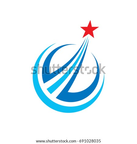 Progress Abstract Vector Logo Design Elements Stock Photo Photo