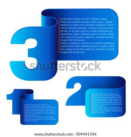 Progress Background / Product Choice or Version. Vector illustration - stock vector