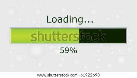 Progress loading vector - stock vector