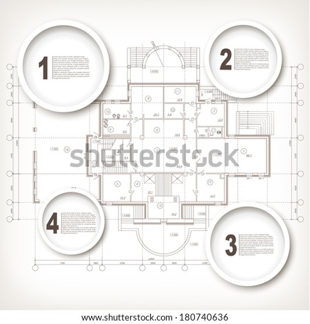 Progress options or variants. Background template with architectural design elements for your business site  - stock vector