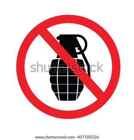prohibited sign no weapon. vector illustration. - stock vector