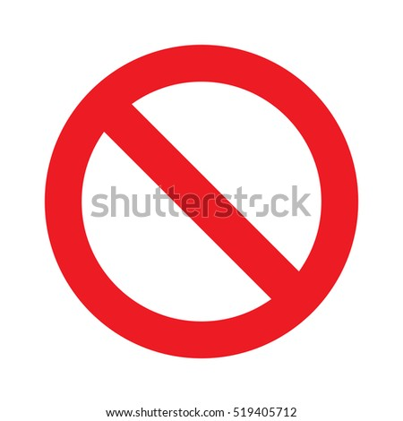 Prohibition sign or no sign vector isolated