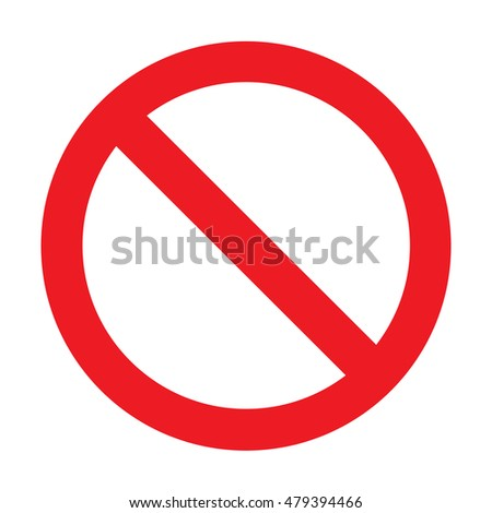 Prohibition Sign Vector