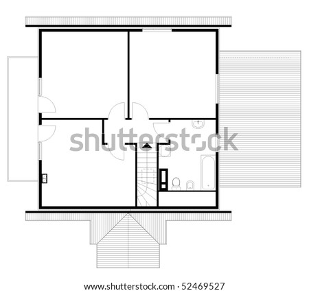 stock vector project of house in black and white color garret 52469527 winch wiring diagram for a scale gandul 45 77 79 119  at panicattacktreatment.co