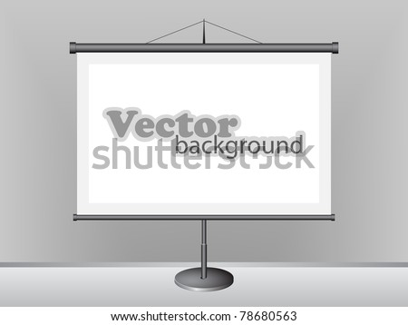 Projection Screen - stock vector