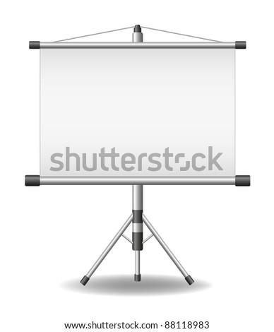 Projection screen (projector roller screen) - stock vector