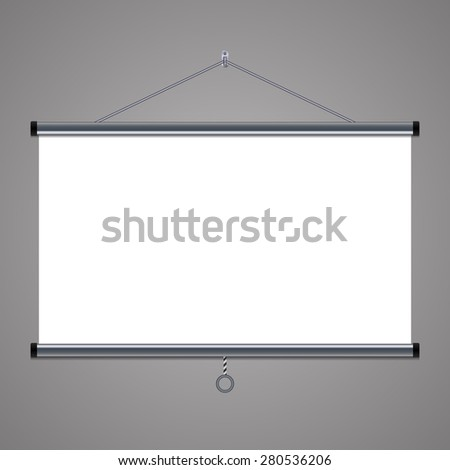 projection screen to showcase your projects, 16:9 aspect ratio - stock vector