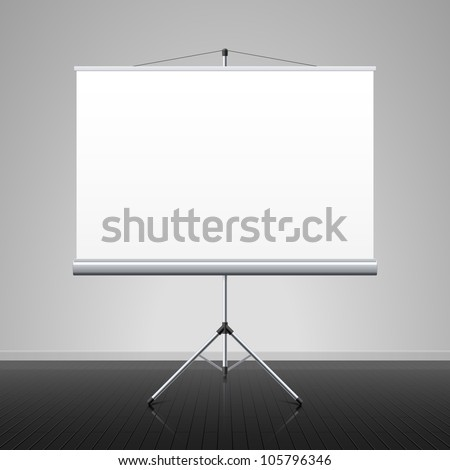 Projection screen. Vector. - stock vector