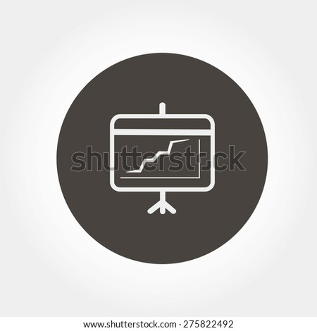 Projection Screen, vector illustration - stock vector