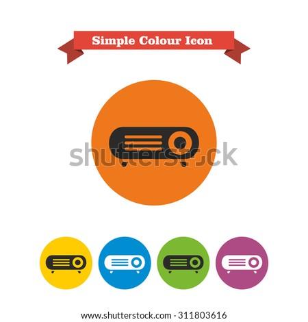 Projector icon - stock vector