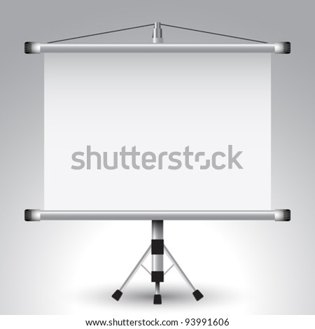 projector roller screen, abstract vector art illustration; image contains transparency - stock vector