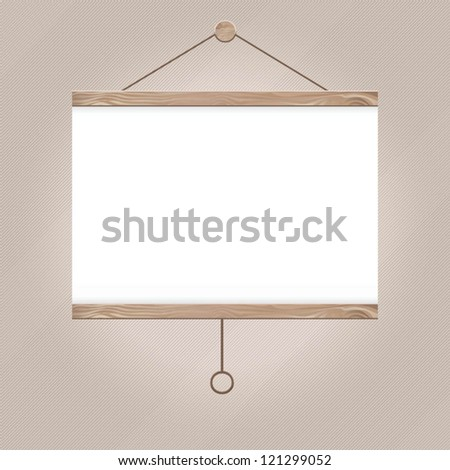 Projector Screen - stock vector