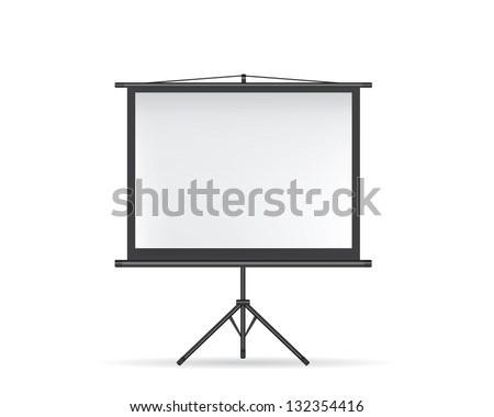 Projector screen black - stock vector