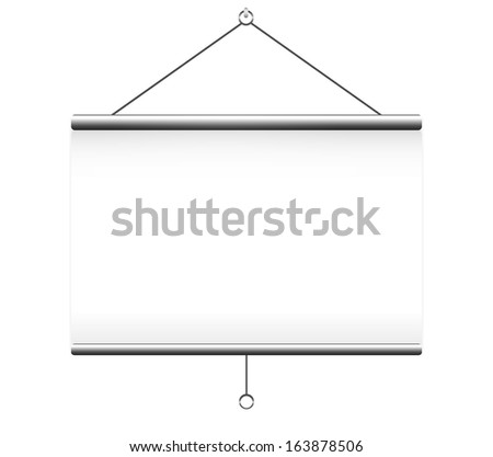 Projector screen on white background - stock vector
