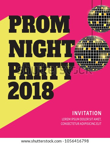 Prom night party background poster flyer stock vector 1056416798 prom night party background for poster or flyer vector design banner invitation card stopboris Image collections