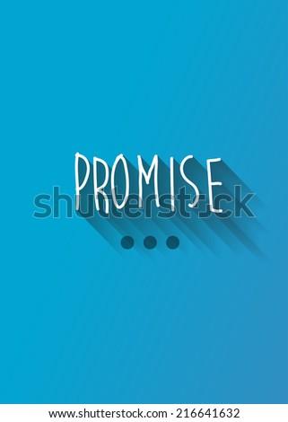 promise typo with shadow vector, wedding theme - stock vector