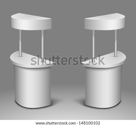 promo display, blank promotion counter isolated on the white background  - stock vector
