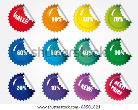 Promo sale stickers. Vector eps 10 - stock vector