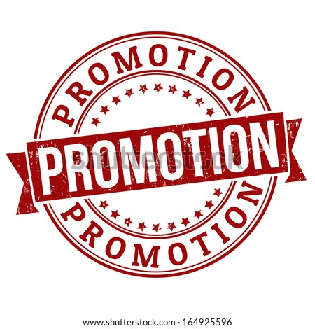 Promotion grunge rubber stamp on white, vector illustration - stock vector