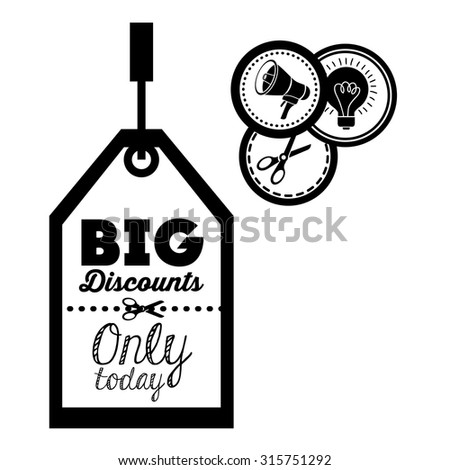 Promotions and discounts  message digital design, vector illustration eps 10 - stock vector