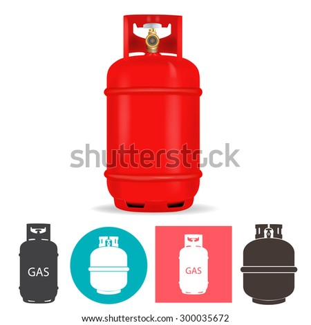 Propane gas container - stock vector