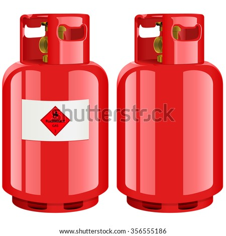 Propane gas cylinder - vector illustration