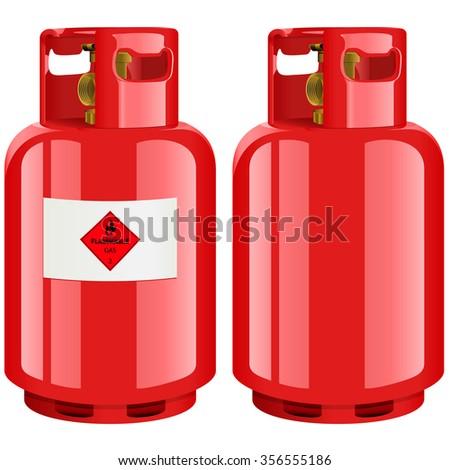 Propane gas cylinder - vector illustration - stock vector