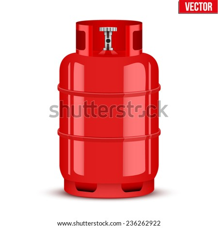 Propane Gas cylinder. Vector Illustration isolated on white background. - stock vector