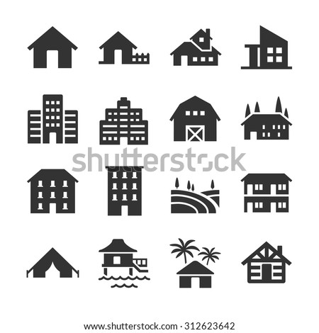 Property type icons - stock vector